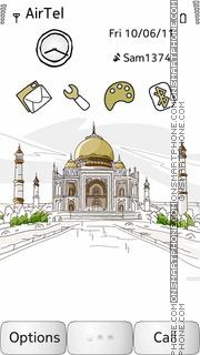 Taj Mahal es el tema de pantalla