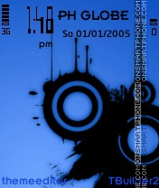 Black on Blue Theme es el tema de pantalla