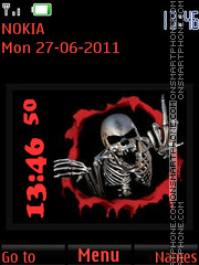 Angry Skeleton By ROMB39 theme screenshot