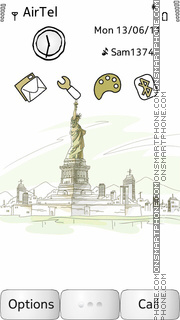 Statue Of Liberty es el tema de pantalla