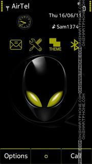 Black Alien theme screenshot