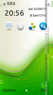 Green Vector es el tema de pantalla