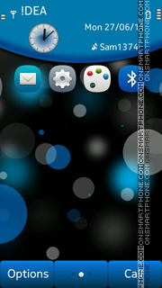 Blue Dots theme screenshot