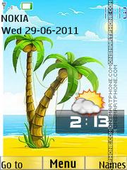 Summer Clock Icons theme screenshot