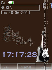 Guitar 1 By ROMB39 theme screenshot