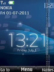 Real Blackberry Clock theme screenshot