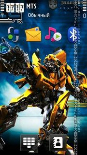 Transformers Bumblebee 01 theme screenshot