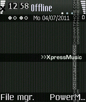 Xpress music es el tema de pantalla