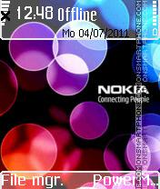 Nokia es el tema de pantalla