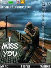 Miss You 10 theme screenshot