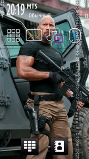 Dwayne Johnson theme screenshot