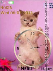 Cat and clock theme screenshot