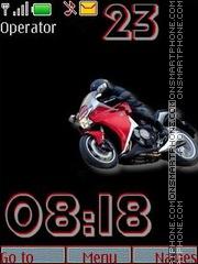 Honda moto swf theme screenshot