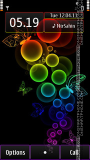 Rainbow Bubbles theme screenshot