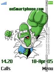 Hulk Homer es el tema de pantalla