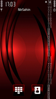 Red Black Waves es el tema de pantalla