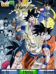 The Legendary Goku theme screenshot