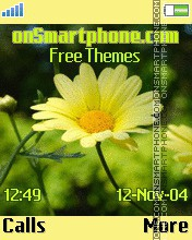 Yellow daisy theme screenshot