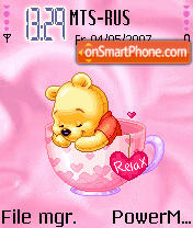 Animated Sleepy Pooh theme screenshot