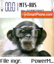 Animated Monkey Smoking theme screenshot