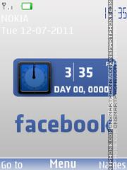 Dual Facebook Clock theme screenshot