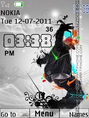 Hip-Hop Clock es el tema de pantalla