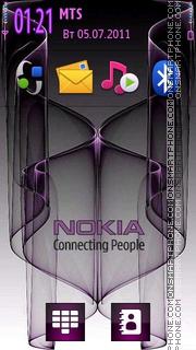 Nokia Purple Logo es el tema de pantalla