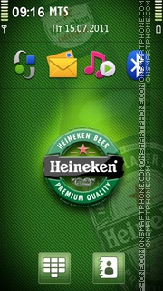 Heineken Beer 02 theme screenshot