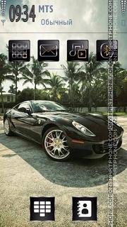 Black Ferrari 05 theme screenshot