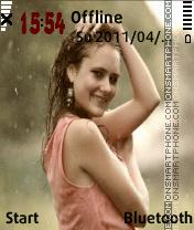 Rainy girl v1 es el tema de pantalla