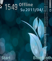 Blue flower theme screenshot