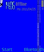 Blue es el tema de pantalla