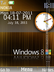Windows 8 Clock theme screenshot