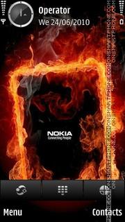 Nokia fire theme screenshot