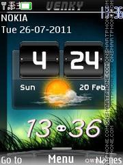 New Htc Clock theme screenshot