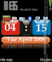 3d Clock Theme tema screenshot
