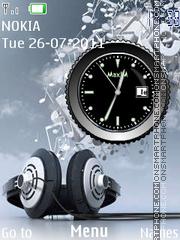 Music Clock 01 es el tema de pantalla