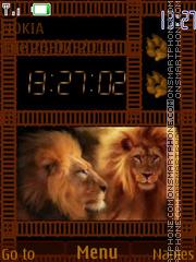 Lion Clock 03 tema screenshot