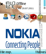 Nokia Hand theme screenshot