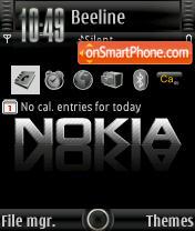 Black Nokia 9s2 theme screenshot