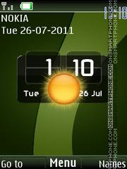 Green Htc Clock theme screenshot
