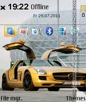 Mercedes Sls Amg 01 es el tema de pantalla