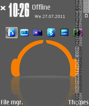 I Love Music Gray theme screenshot