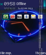 Cute Clock Blue tema screenshot