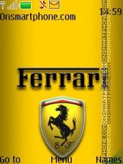 Ferrari Logo 2015 theme screenshot