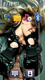 Britney Spears 26 theme screenshot