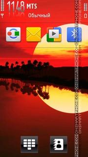 Sunset 22 es el tema de pantalla