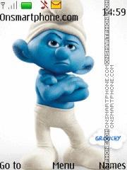 Grouchy Smurf theme screenshot