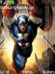 Superhero Captain America es el tema de pantalla