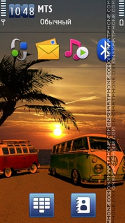 Sunset VW theme screenshot